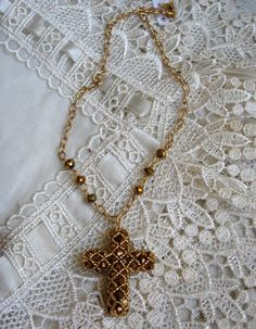 Collana croce netted