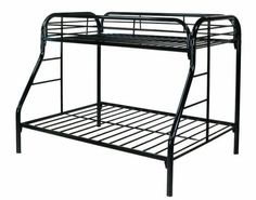 Metal Loft Bed Frames - Choice of contemporary frames usually relies upon the kind of decor, size of bedroom, price and such. Twin Full Bunk Bed, Adult Bunk Beds, Double Bunk Beds, Metal Bunk Beds, Full Bed, Low Bed Frame, Bed Images, One Bed, Types Of Beds