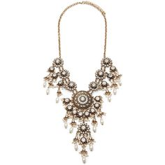 Forever 21 Faux Pearl Rhinestone Statement Necklace (125 HRK) ❤ liked on Polyvore featuring jewelry, necklaces, forever 21 jewelry, medallion necklace, chain necklaces, faux pearl statement necklace и faux pearl necklace