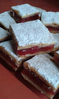 Bakery, Dessert Recipes, Food And Drink, Sweets, Cheese, Squares, Hungarian Recipes, Sheet Cakes, Gummi Candy