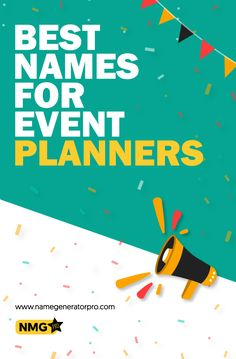 Generate some of the best event planning business name ideas with the even planning business name generator. Generate some of the best event planner names with the planning business name generator. Event Planning Template, Event Planning Checklist, Event Planning Business, Event Planning Design, Business Events, Buisness Name Ideas, Catchy Business Name Ideas, Business Names, Event Management Company