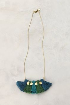 tassel necklace #anthropology