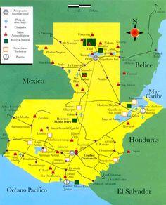 Mapa Turístico de Guatemala
