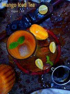 Iced Tea Recipes, Mango Recipes, Vegetarian Platter, Vegetarian Recipes, Easy Summer Meals, Summer Recipes, Mango Iced Tea, Recipes Using Fruit, Indian Kitchen