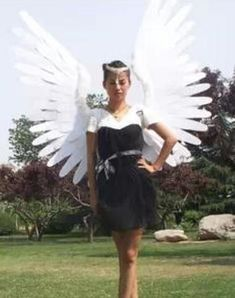 Large Angel Wings Fairy Feather Performanc Costume Party Halloween Cosplay UK!
