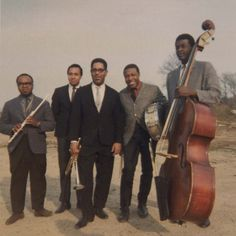 Dizzy Gillespie and band, 1965. l-r James Moody, Kenny Barron, Dizzy Gillespie, Rudy Collins, Chris White.