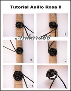 Cool tutorial for a rose ring made from wire. The tutorial isn't in English, but it seems easy enough to follow. Steps 1-6 of the tutorial can be seen at the link.