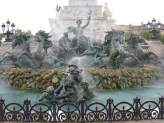 I absolutely loved going to Bordeaux, France. This is one of their famous fountains.