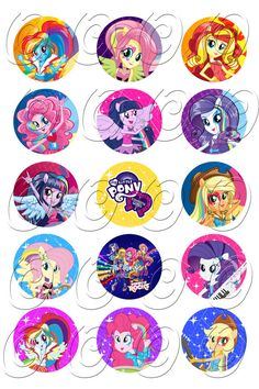 15 Different Equestria Girls Rainbow Rocks by OmgBirthdays on Etsy, $4.99