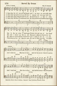 Hymn ~ Saved By Grace ~ free graphic