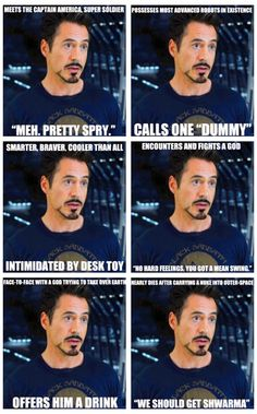 Unimpressed Tony Stark