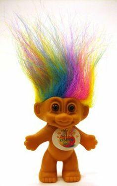 """My Lucky RAINBOW Mini Troll Doll by Russ Berrie. $21.99. My Lucky RAINBOW Mini Size 4"""" Troll Doll. Approx 4"""" Tall. My Lucky RAINBOW Mini Size 4"""" Troll Doll, Approx 4"""" Tall"""