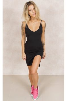 Vestido Got It Cruzado Preto Fashion Closet - fashioncloset