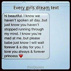 Cute text! Dream text. Awwwee princess. <3