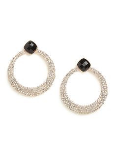 Onyx Pave Hoops