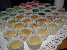 Muffins de colores