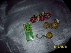 LOT Keychain Compass/Map Yellow USA, Black Chivas Unsure 70s-80s