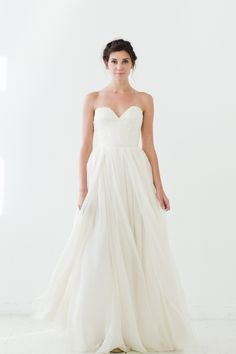 'Gardens' bustier top wedding gown | Sarah Seven Wedding Dresses 2015