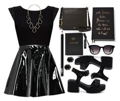 """""""Black......"""" by designbecky ❤ liked on Polyvore featuring NARS Cosmetics, Boohoo, Alice + Olivia, FOSSIL, Fendi, Kendra Scott, Kate Spade and Bobbi Brown Cosmetics"""