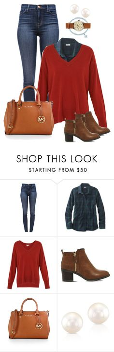 """""""Confy like fall"""" by marijime-paperdoll ❤ liked on Polyvore featuring J Brand, L.L.Bean, Whistles, Office, MICHAEL Michael Kors, Anne Sisteron and J.Crew"""