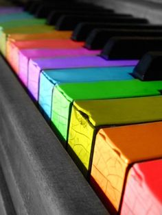 rainbow piano - this how our piano turns when infected!