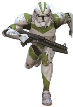 Green Clonetrooper, is it just me or dose it look like he's dancing
