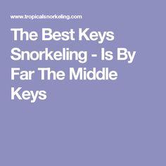 The Best Keys Snorkeling - Is By Far The Middle Keys