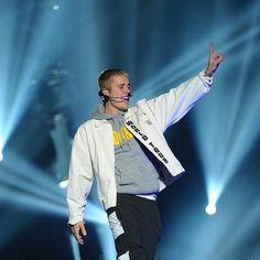 "April 12: Photo of Justin performing in Bogota, Colombia #PurposeWorldTour"""