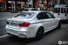 F80 BMW M3 Sedan in Mineral White Photo