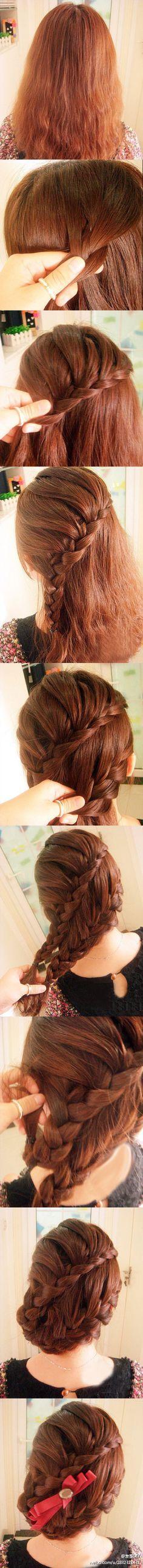 teaching you how to braid