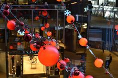 Christmas decorations have gone up in the One New Change shopping centre in the City.