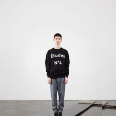 etudes studio (sweatshirt n4 black)