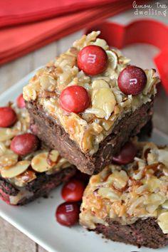 German Chocolate Cherry Bars
