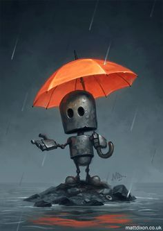 'The Rainy Season' from my new book of robot art, Transmissions now funding on Arte Robot, Robot Art, Robots Drawing, Art Drawings, Desenho Scooby Doo, Character Art, Character Design, Bd Art, Arte Dc Comics