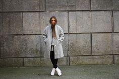 grey wool coat asos