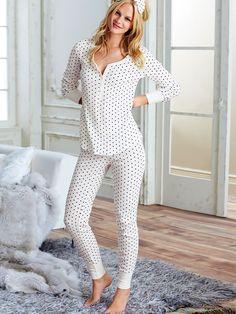 The Fireside Long Jane Pajama (either this print, or light punk stripe, or all black) depends how comfortable it is Sexy Pajamas, Cute Pajamas, Pajamas Women, Pyjamas, Pjs, Cute Sleepwear, Lingerie Sleepwear, Nightwear, Night Suit