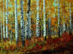Aspen Original Oil on Canvas by Andrew Kiss 36 x 48