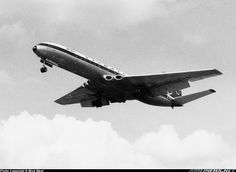 The cropped wing version of the Comet was produced for BEA as a response to the Caravelle, Olympic also bought it for their European routes - Photo taken at London - Heathrow (LHR / EGLL) in England, United Kingdom in Olympic Airlines, National Airlines, De Havilland Comet, Queen Sophia, Civil Aviation, Commercial Aircraft, Aircraft Pictures, First World, Airplanes