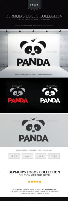 Panda Logo by Opaq Logo of a stylized panda bear head. Full vectors, this logo can be easily resize and colors can be changed to fit your project. Fl