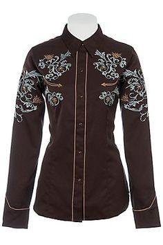 Retro Western Brown Shirt