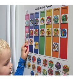 With the Busy Kid Weekly Activity Planner, kids will love using the 40 activity magnets to plan their week ahead and you will never miss a play date again!