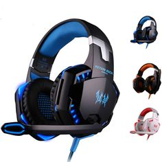 4b361b0a287 G2000 Deep Bass Gaming Headset Headband Stereo Headphones with Mic LED  Light #kotioneach Gaming Setup