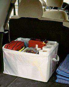 emergency bag in car