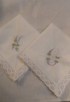 Custom Embroidered Wedding Handkerchief Wedding Initials Brides Something  Blue Lace Handkerchief Personalized Wedding Handkerchiefs by ibelieveican…