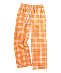 Love this Boxercraft | Orange & White Plaid Flannel Pajama Pants - Unisex & Plus by Boxercraft on #zulily! #zulilyfinds