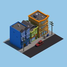 30 isometric renders 2 - Michiel van den Berg - animation & design