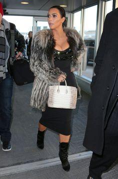 Kim Kardashian departing JFK Airport in NYC