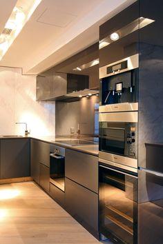 Coffee machine, microwave, drinks fridge