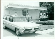 Jim Moshinskie at Camp Funeral Home, Dallas, 1971 Flower Car, Police Cars, Police Vehicles, Lead Sled, Fire Apparatus, Auto Service, Station Wagon, Ambulance, Camping