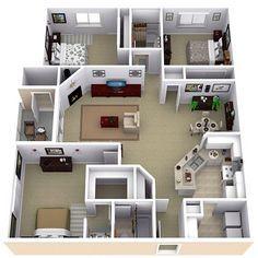Denah Rumah Sederhana 3 Kamar Tidur Denah Rumah Minimalis 3 Kamar